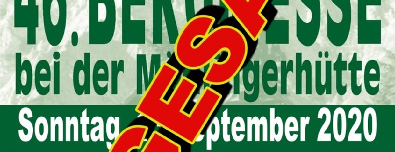+++ Bergmesse 2020 ABGESAGT +++